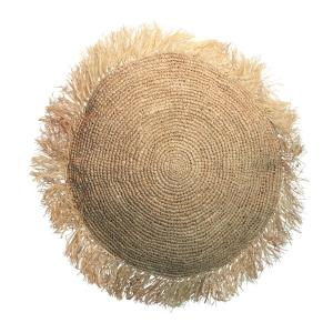 The raffia cushion round natural l 1